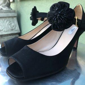 Vintage Prada heel sz 39 - 8.5 beaded strap